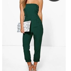 Petite emerald jumpsuit